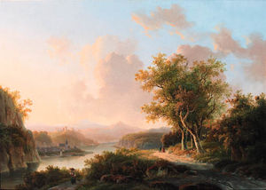 Willem De Klerk - A Rhenish Summer Landscape