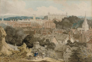 William Alfred Delamotte - A View Of King's College Chapel, Cambridge