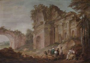 William Hamilton - Classical Ruins -