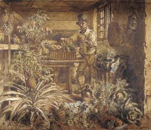 William Henry Hunt - A Gardener In His Potting Shed