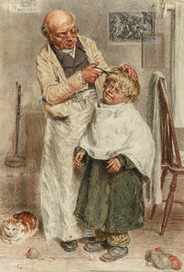 William Henry Hunt - The Barber
