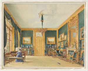 William Henry Hunt - The Green Drawing Room Of The Earl Of Essex At Cassiobury