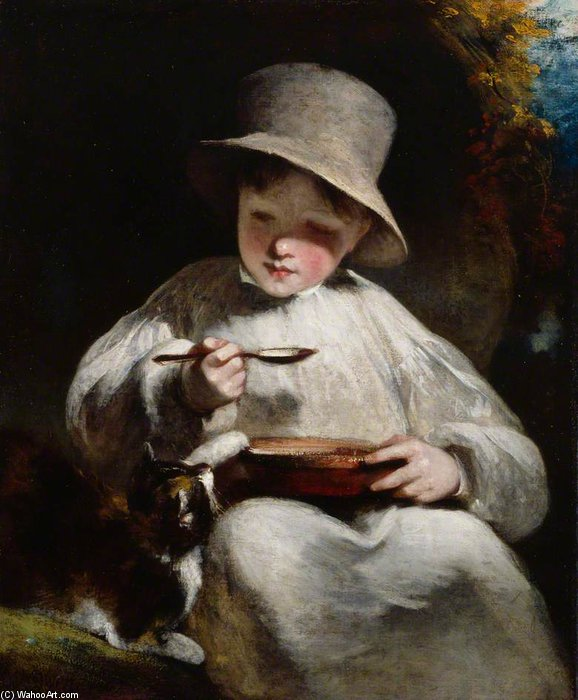 Order Painting Copy : Boy And Kitten by William Owen (1769-1825, United Kingdom) | WahooArt.com