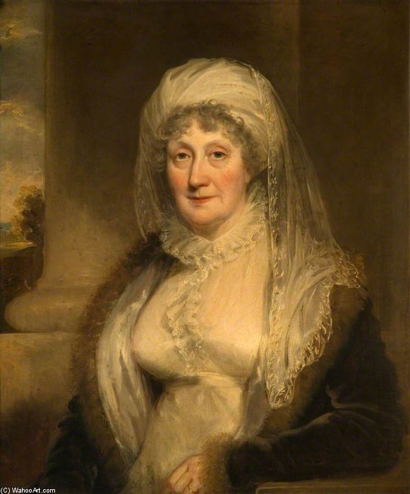Elizabeth Sparrow Of Bishton Hall by William Owen (1769-1825, United Kingdom) | Museum Quality Reproductions | WahooArt.com