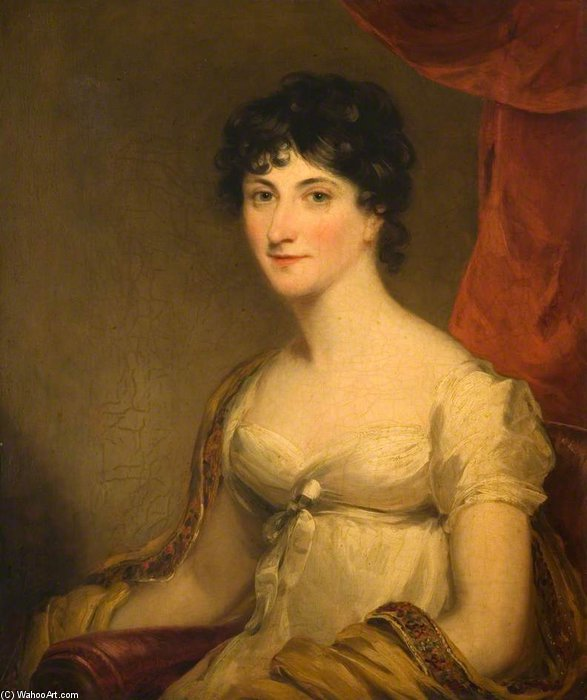 Lady Hannah Chetwynd by William Owen (1769-1825, United Kingdom) | Famous Paintings Reproductions | WahooArt.com