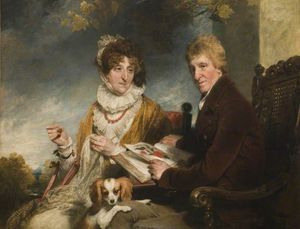 William Owen - Portrait Of A Man And A Woman