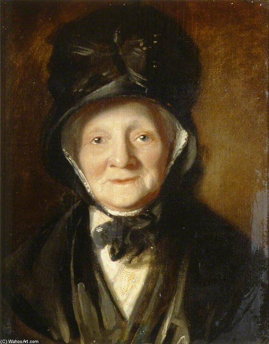 Portrait Of An Old Lady by William Owen (1769-1825, United Kingdom)