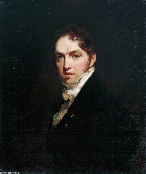 Self Portrait by William Owen (1769-1825, United Kingdom) | Oil Painting | WahooArt.com