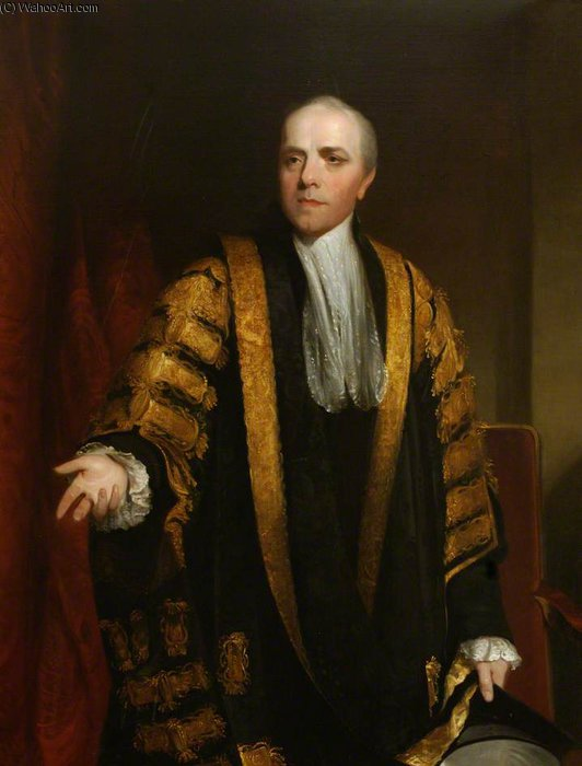Order Painting Copy : Wyndham Grenville, Baron Grenville, Chancellor Of The University by William Owen (1769-1825, United Kingdom) | WahooArt.com