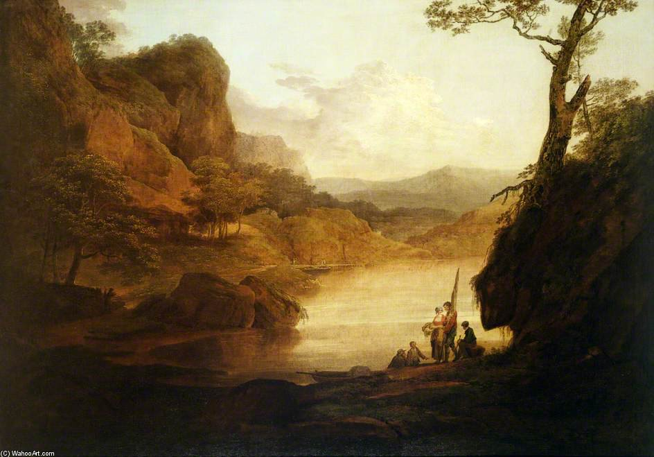 View On The Wye by William Payne (1760-1830, United Kingdom)