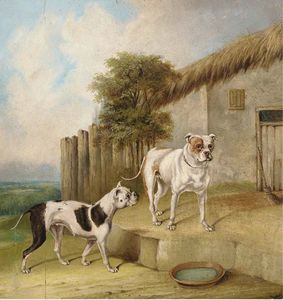 Abraham Cooper - Crib And Rosa By An Outhouse