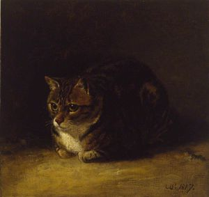 Abraham Cooper - Study Of A Cat