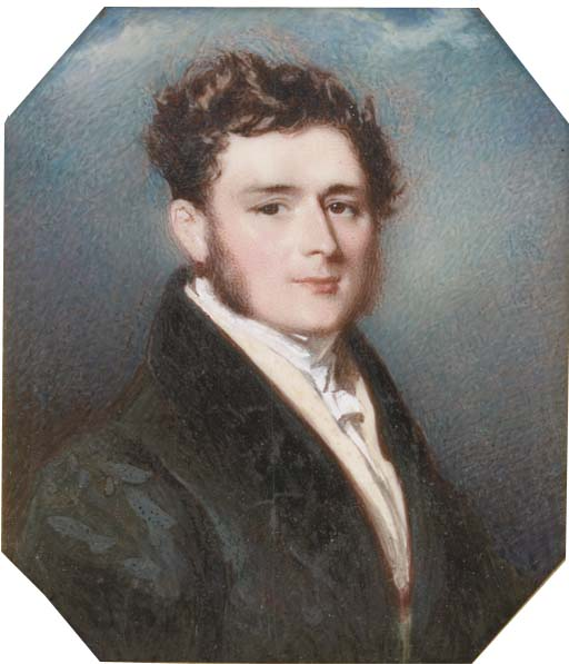 A Young Gentleman by Alfred Edward Chalon (1780-1860, Switzerland)