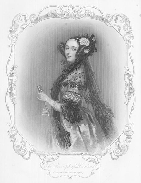 An Engraved Portrait Of Augusta Ada King by Alfred Edward Chalon (1780-1860, Switzerland)