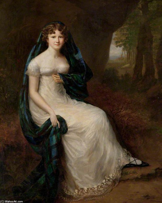 Elizabeth Brodie, Wife Of The 5th Duke Of Gordon by Alfred Edward Chalon (1780-1860, Switzerland) | Famous Paintings Reproductions | WahooArt.com