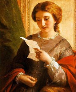Alfred Edward Chalon - Girl Reading A Letter