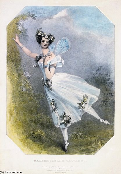 Marie Taglioni As Flore In Charles Didelot's Ballet Zephire Et Flore by Alfred Edward Chalon (1780-1860, Switzerland)