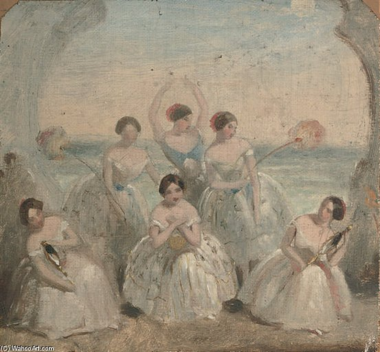 Order Oil Painting : The Ballet Performance by Alfred Edward Chalon (1780-1860, Switzerland) | WahooArt.com