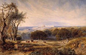 Anthony Vandyke Copley Fielding - Windsor Castle From The Park