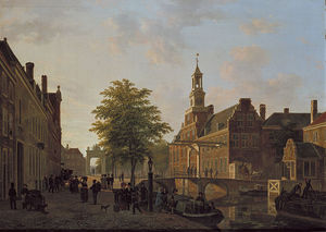 Bartholomeus Johannes Van Hove - View Of The Old Women And Children's Home Of The Sick