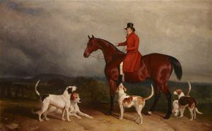 Charles Hancock - James -the Young Commodore- Watson, On A Hunter, With Hounds