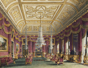 Charles Wild - Carlton House, Crimson Drawing Room -