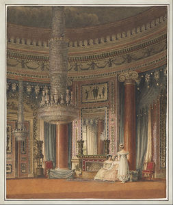 Charles Wild - The Circular Dining Room At Carlton House