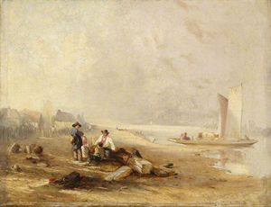 Order Famous Paintings Reproductions : A River Shore by Clarkson Frederick Stanfield (1793-1867, United Kingdom) | WahooArt.com
