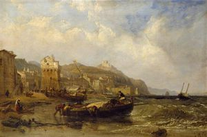 Clarkson Frederick Stanfield - A View Of Vietri In The Gulf Of Salerno