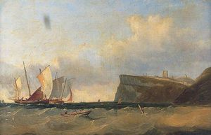 Clarkson Frederick Stanfield - Fishing Barges Off The South Foreland