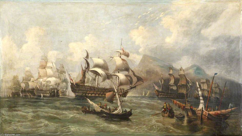 Hms 'victory' Towed Into Gibraltar by Clarkson Frederick Stanfield (1793-1867, United Kingdom)