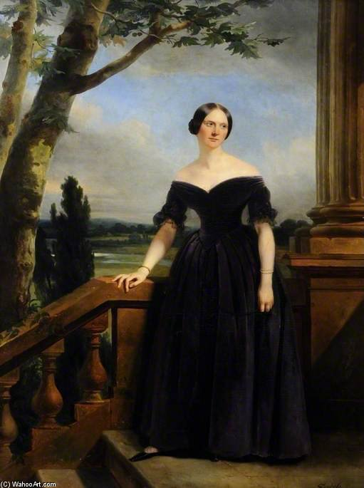 Eliza Chichester, Sister To Lady Marianne Clifford Constable by Claude Marie Paul Dubufe (1790-1864) | Museum Art Reproductions Claude Marie Paul Dubufe | WahooArt.com