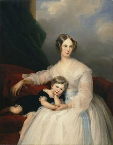 Claude Marie Paul Dubufe - Mrs Hervey Francis De Montmorency And Her Daughter Frances