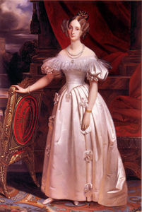 Claude Marie Paul Dubufe - Portrait Of Louise Of Orléans, The First Queen Of The Belgians