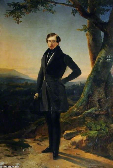 Order Reproductions | Sir Thomas Aston Clifford Constable by Claude Marie Paul Dubufe (1790-1864) | WahooArt.com