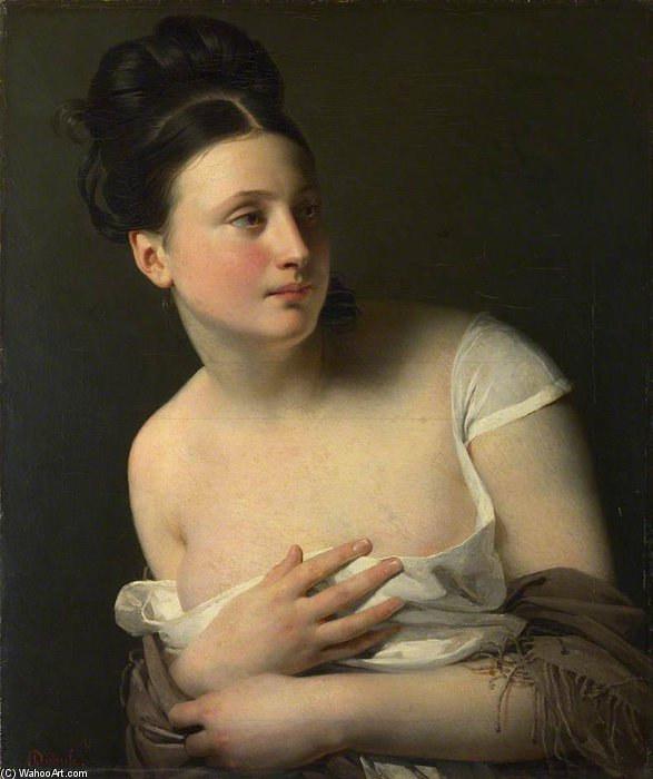The Surprise by Claude Marie Paul Dubufe (1790-1864) | Reproductions Claude Marie Paul Dubufe | WahooArt.com