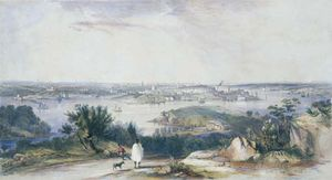 Conrad Martens - View Of Sydney From St Leonards