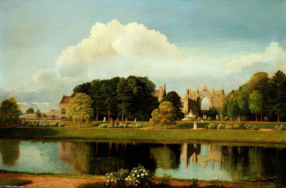 Newstead Abbey by Cornelius Varley (1781-1873, United Kingdom) | Museum Quality Reproductions | WahooArt.com