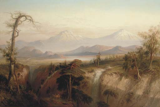 The Ravine Of The Desert (the Valley Of Mexico) by Daniel Thomas Egerton (1797-1842, United Kingdom) | Reproductions Daniel Thomas Egerton | WahooArt.com