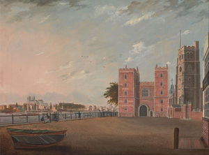 Daniel Turner - Lambeth Palace From The West