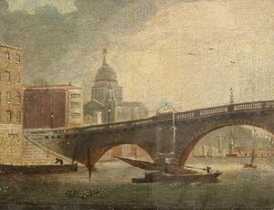Daniel Turner - London Bridge And St Paul's Cathedral, London