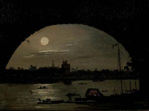 Daniel Turner - Moon Over The River Thames