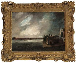 Daniel Turner - The Thames With Lambeth Palace Beyond