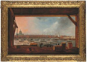 Daniel Turner - View Of Horatio Nelson's Funeral Procession On The River Thames