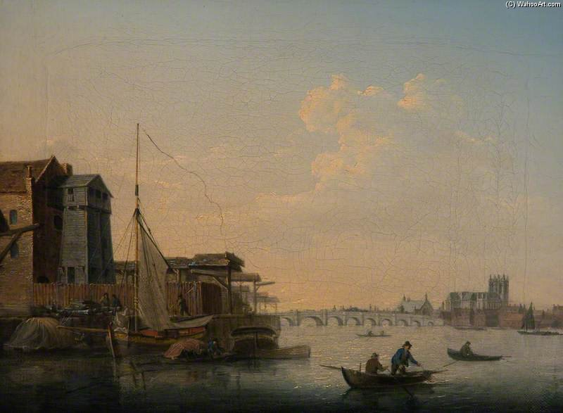 Westminster Bridge by Daniel Turner (1782-1817, United Kingdom) | Museum Art Reproductions Daniel Turner | WahooArt.com