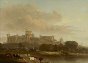Edmund Bristow - Distant View Of Windsor Castle -