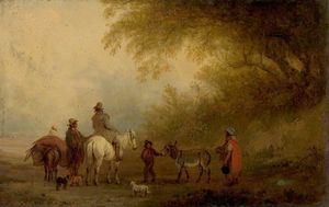 Edmund Bristow - Gypsies Striking Camp