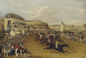 Francis Calcraft Turner - Cardinal Puff Winning The Tradesman's Plate At Chester Races