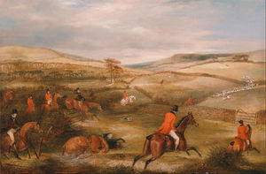 Francis Calcraft Turner - The Berkeley Hunt, The Chase