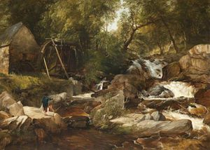 Frederick Richard Lee - A Highland Stream